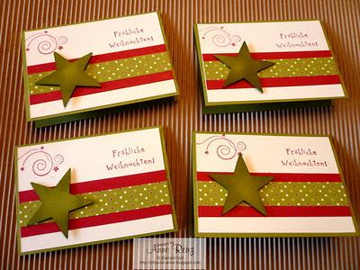 Kleine weihnachtsk rtchen f r kurze gr e - Weihnachtskarten selbst gestalten vorlagen ...