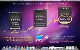 Memory Cleaner – leert den Arbeitsspeicher auf dem Mac perMausklick