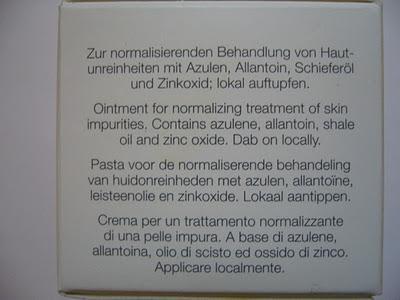 review azulen paste von dr eckstein s o s gegen pickel. Black Bedroom Furniture Sets. Home Design Ideas