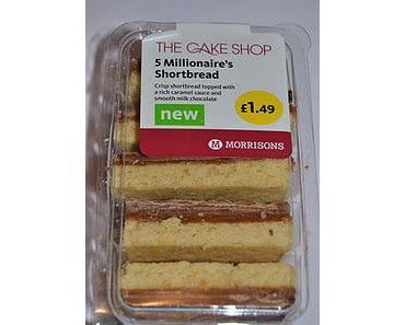 Morrisons Millionaire's Shortbread, Marks & Spencer Millionaires Caramel &Chocolate; Shortbread Squares und Thorntons Mini Caramel Shortcakes