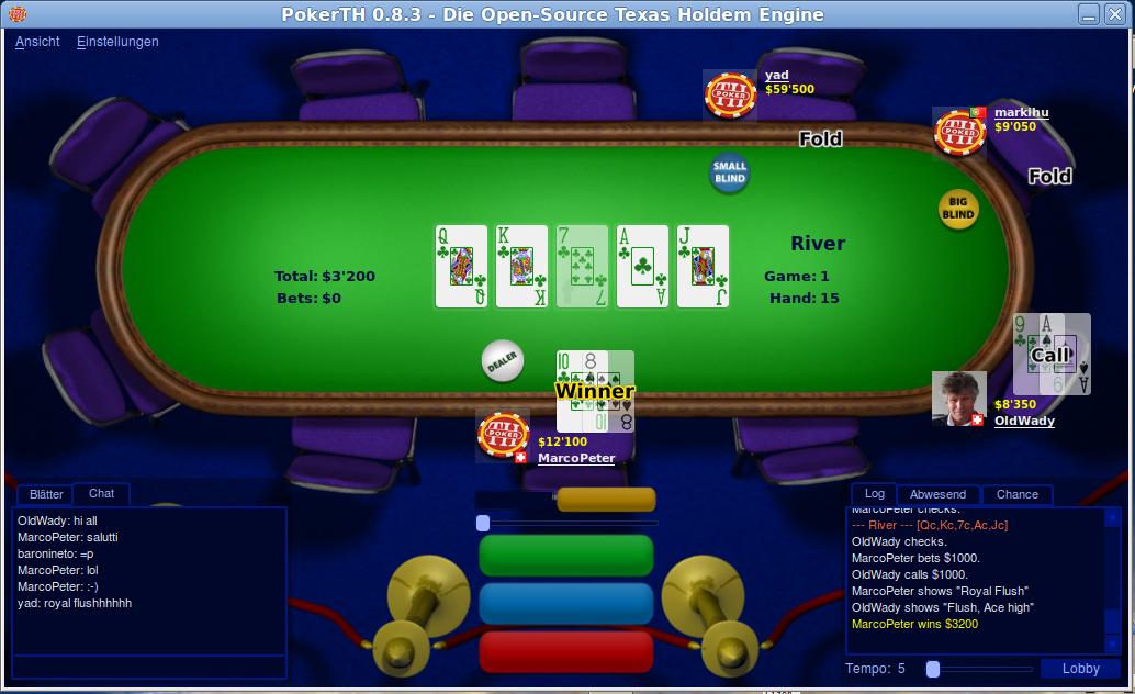 Pokern unter Linux