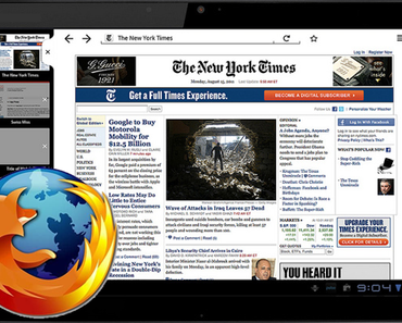 Mozilla Firefox erhält Update für Android-Tablets