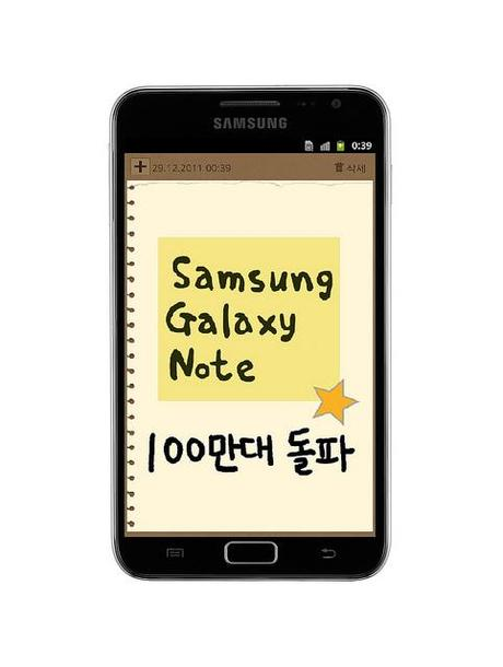 Samsung Galaxy Note 1 Million mal ausgeliefert.