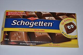 Schogetten Milchcrème Für Kinder und Milchcrème und zartes Karamell