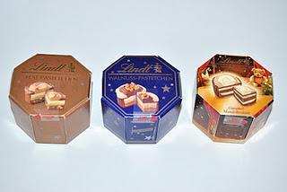 Lindt Fest-Pastetchen, Walnuss-Pastetchen und Weihnachtstradition Caramel-Mandelkrokant