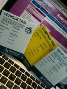 Camping und Vehicle Permit Tags