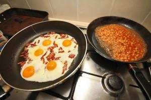 Breakfest with Eggs and Bacon