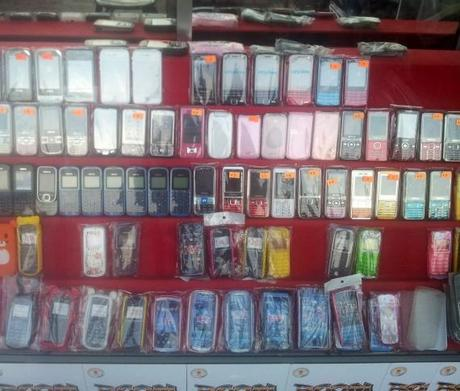 Cambodia: Cheap Chinese Mobile Phones dominating.