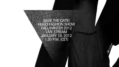 NEWS | Save The Date! Hugo Fashion Show Live am 19.01.2012