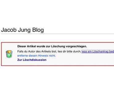 Selbstversuch Wikipedia: Löschen was nicht passt