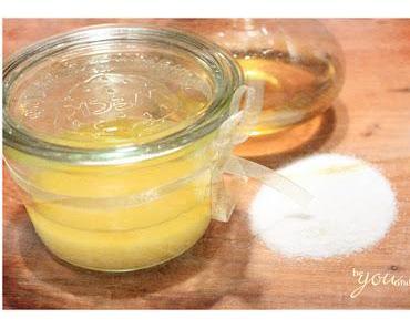 Naturkosmetik selber machen - einfaches Öl / Salz Peeling für schöne Haut