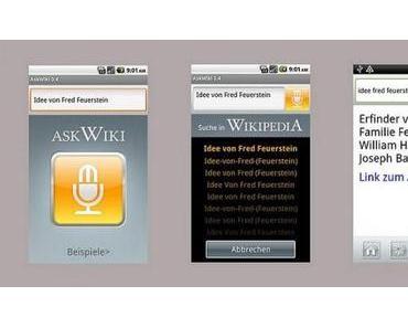 AskWiki für Android: Sprachsuche für Wikipedia