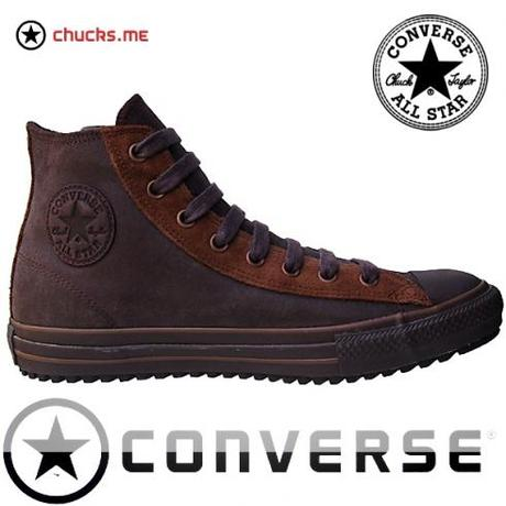 Converse Schuhe Chuck Taylor All Star Chucks 105821 Braun Leder Leather HI Winter Boots