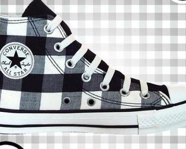 #Converse Chuck Taylor All Star Chucks 102951 Plaid Schwarz Weiß Black White Kariert