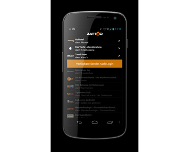 Zattoo – mobiles Fernsehen für Android