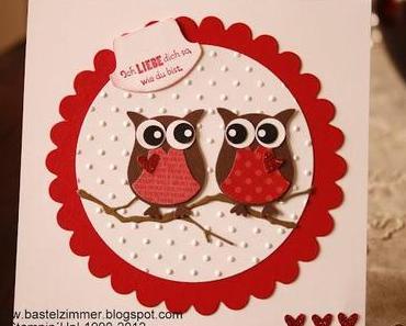 Eulen am Valentinstag