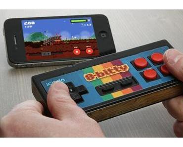 """Retro-Joypad """"iCade 8-bitty"""" für Tablets und Smartphones."""