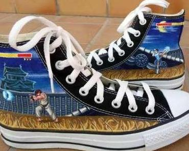 "#STREET #FIGHTER #CONVERSE CHUCKS limited edition ""Hadoken"""