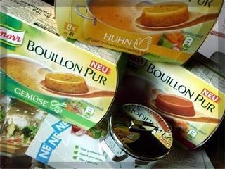 Probekochen mit Knorr Bouillon pur