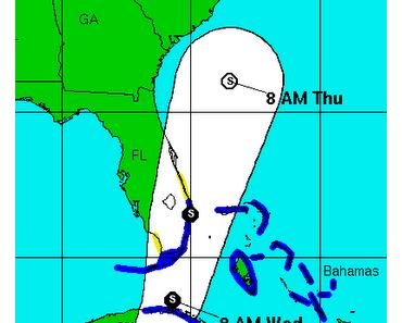 Atlantik aktuell: Tropische Depression (Tief) 16 (potenziell Tropensturm NICOLE) - Sturmwarnung fuer Kuba, Bahamas, Caymans und Florida