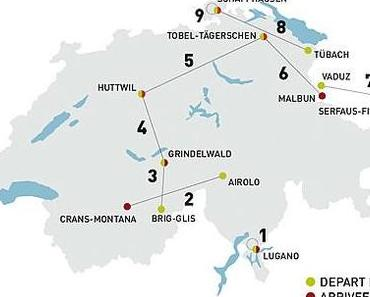 Tour de Suisse 2011 mit 4 Bergankünften