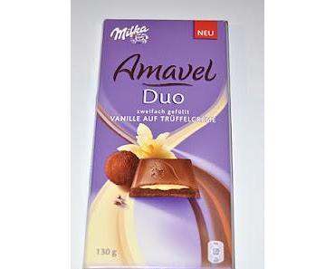 Milka Amavel Vanille auf Trüffelcrème und Mousse Chocolat Blanc