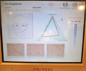 Meine Erfahrung bei SHISEIDO mit der Computer Hautanalyse