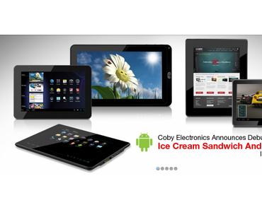 Coby will auf der Cebit fünf neue, günstige, Android-Tablets vorstellen.