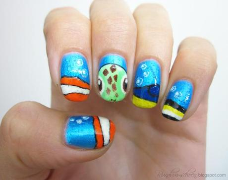 Nailart-Collaboration - Fairytales on hands: Nemo
