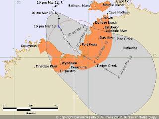 System 96P vor Nordaustralien wird voraussichtlich zu Zyklon MITCHELL