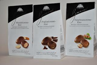 Finest Gourmet Ostereier, Goldora Vanille-Eier und gefüllte Schoko-Eier Mousse Chocolatée