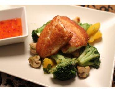 Knusperfisch auf Wockgemüse