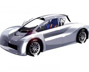 Die Rennversion des Mitsubishi i-MiEV für beim Bergrennen mit