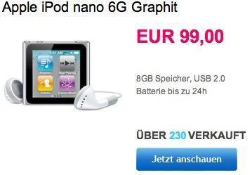 iPod nano 6G in Graphit für nur 99€ bei eBay