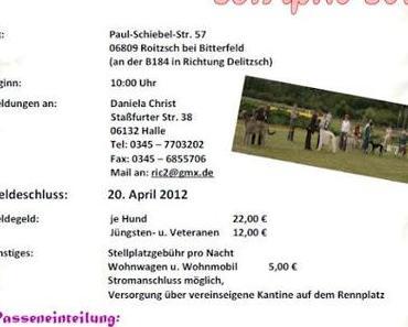 """Landessieger-Ausstellung und """"Das rote Band von Greppin""""- Rennen am 28.und 29. April 2012"""