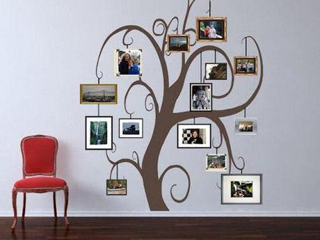 36 ideen fr originelle aufkleber collagen aus fotos stammbaum