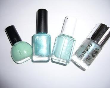 Nagellack Parade | Mint Candy Apple, Turquoise Microglitter, Teeny Bikini, Godfather of Pearl