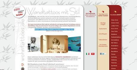 Onlineshop Wohntattoos.de