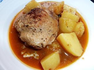 Bessarabische Hühnerkeulen und Marias Milchsalat / Chicken Legs Bessarabian Style and Maria's Milk Salad