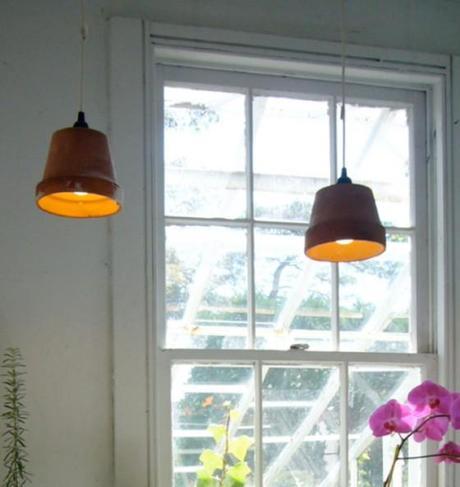 heute noch ein blumentopf morgen schon eine lampe. Black Bedroom Furniture Sets. Home Design Ideas