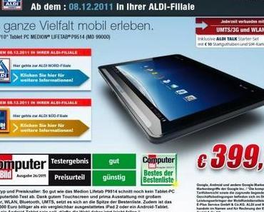 """Aldi-Tablet """"Medion LifeTab"""" ab dem 16. Mai wieder im Handel."""