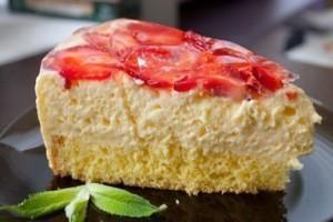 Mascarpone-Erdbeer Torte.