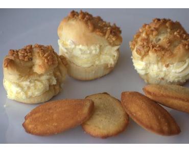 Backen mit Kindern VII  Bienenstich Muffins und Madeleines