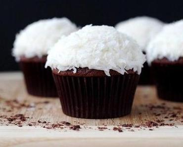 Schokoladen - Cupcakes mit Kokos