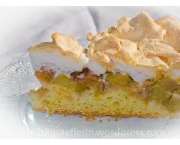 Rhabarberkuchen mit Baiser – nach Paula Horn