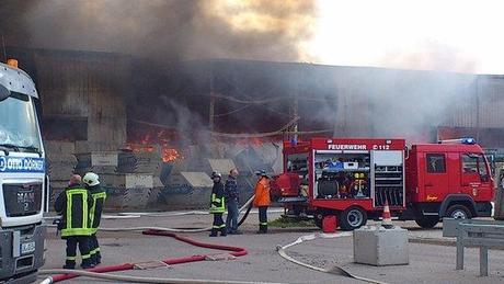 Müllsortieranlage in Holthusen brennt