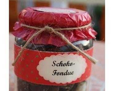 Schokoladen Fondue im Glas