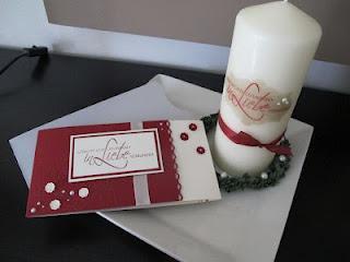 Heute ein Geschenkset zur Hochzeit