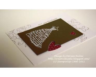 Hochzeitskarte -Variante 4 und 4 1/2