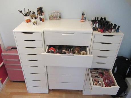 makeup aufbewahrung pt 1. Black Bedroom Furniture Sets. Home Design Ideas